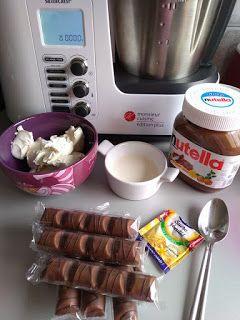 J'ai testé : les crèmes Kinder Bueno au Monsieur Cuisine Plus - Le Monde de Nyna #recettemonsieurcuisinesilvercrest