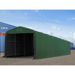 Photo of Tent hall 4×16 m with 3.5×3.5 m gate, Pvc 550 g / m² dark green   with statics (concrete base) industry