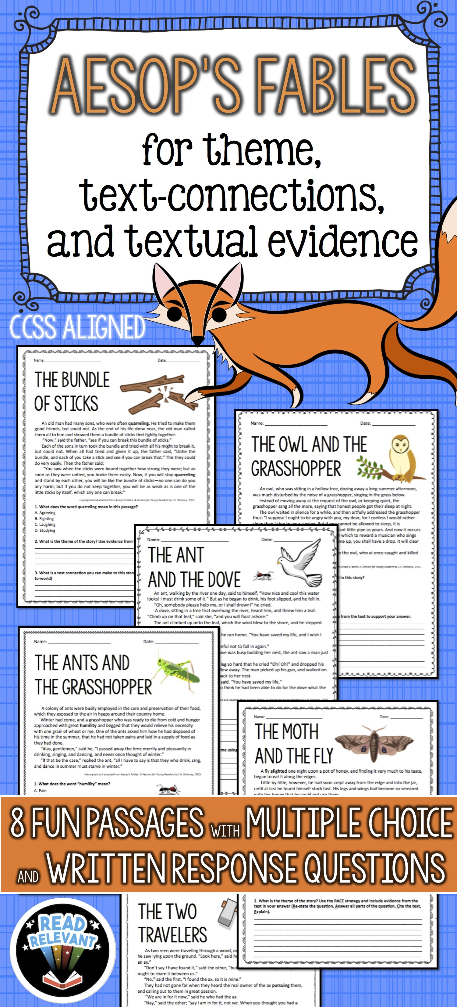 Aesop S Fables For Theme Text Connections And Textual