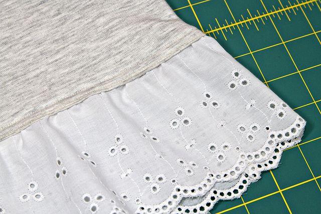 Adding Lace Trim To A Hem To Make Girly Glam Sewing Shirts