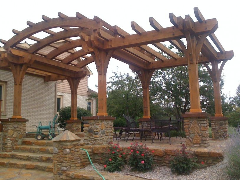 Simple Pergola Curved With Style Vintage Backyard Design