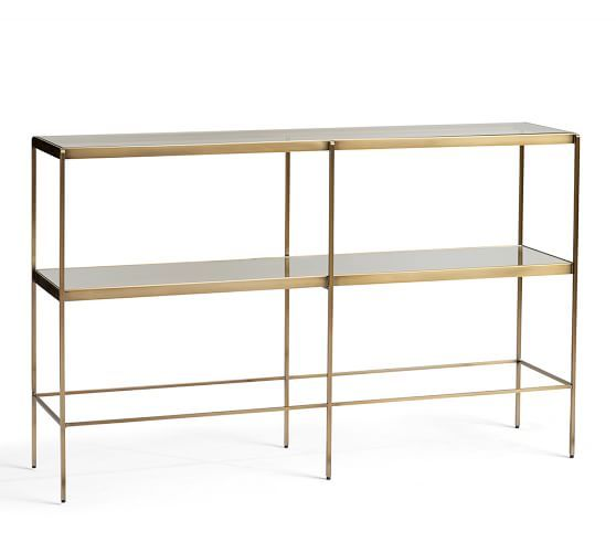 Leona Console Table 599 Family Room Overall 48 Wide X 12 Deep X 30 High Glass Console Table Metal Console Table Console Table