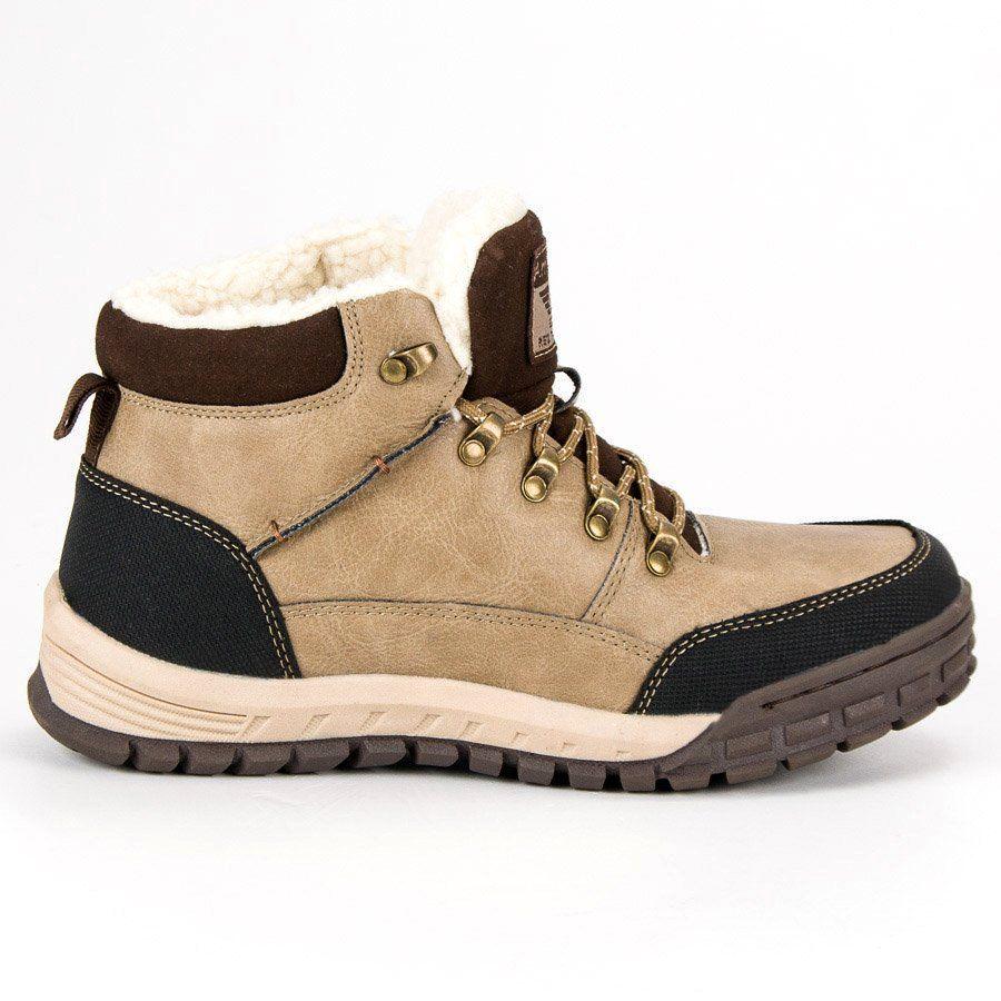 Trekkingowe Meskie Arrigobello Arrigo Bello Brazowe Cieple Buty Zimowe Boots Shoes Shoes Mens