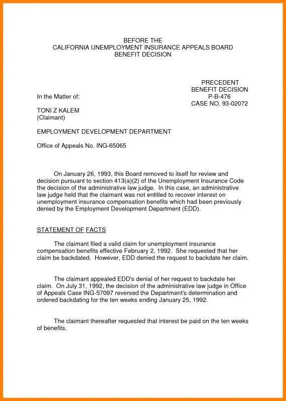 Unemployment Appeal Letter Check More At Https