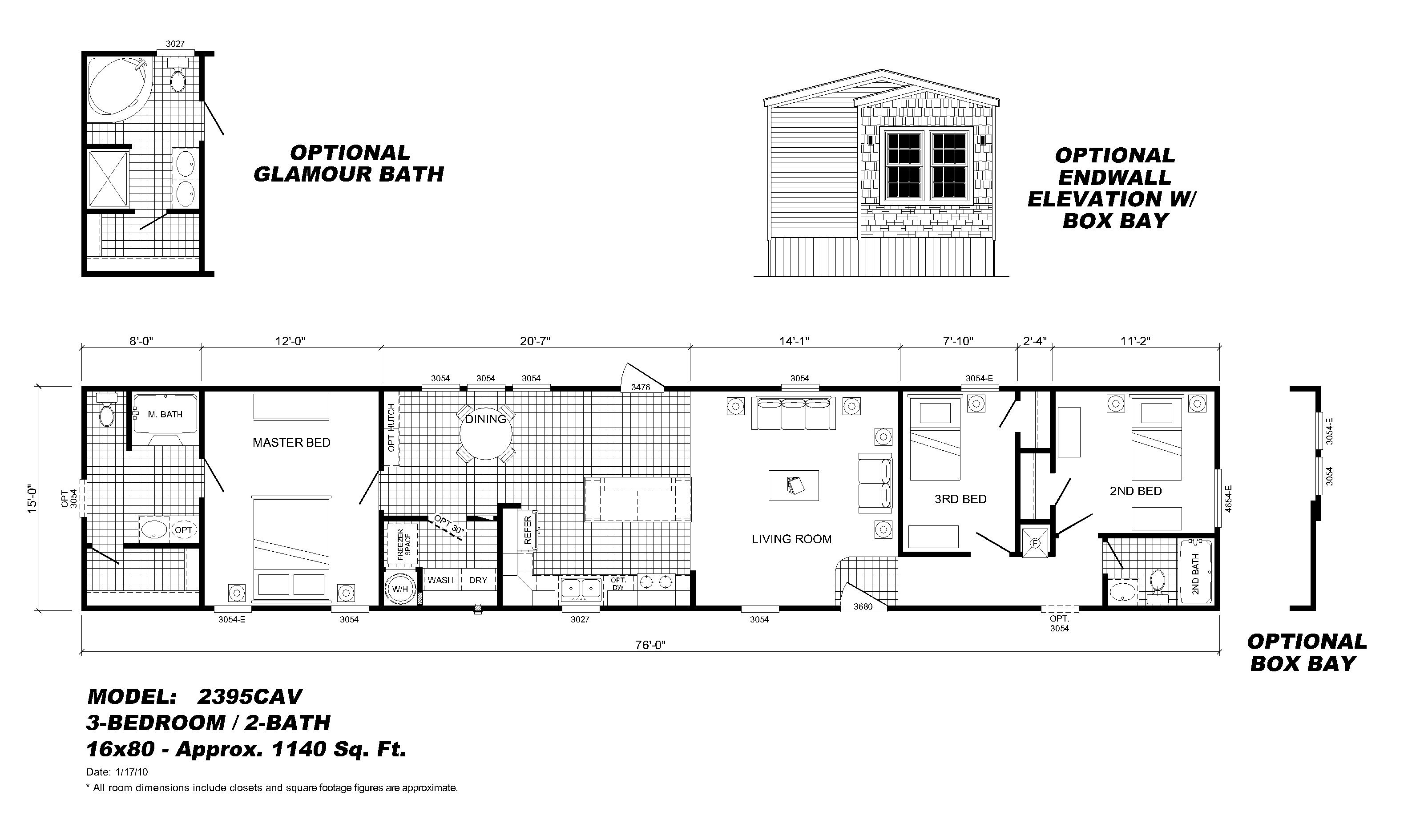 Scotbilt Mobile Home Floor Plans singelwide | Single Wide Mobile ...