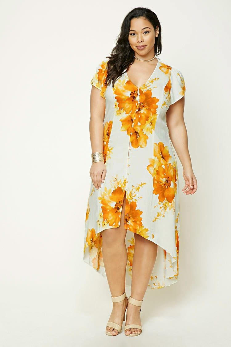 Plus Size Floral HighLow Dress  Women    Forever