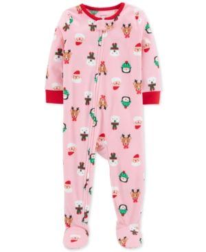 e5308e6c1 Baby Girls Holiday-Print Fleece Pajamas in 2018