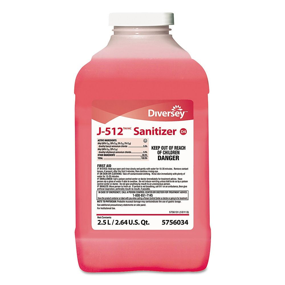 Diversey J 512tm Mc Sanitizer Quaternary Scent 84 5 Oz Pink