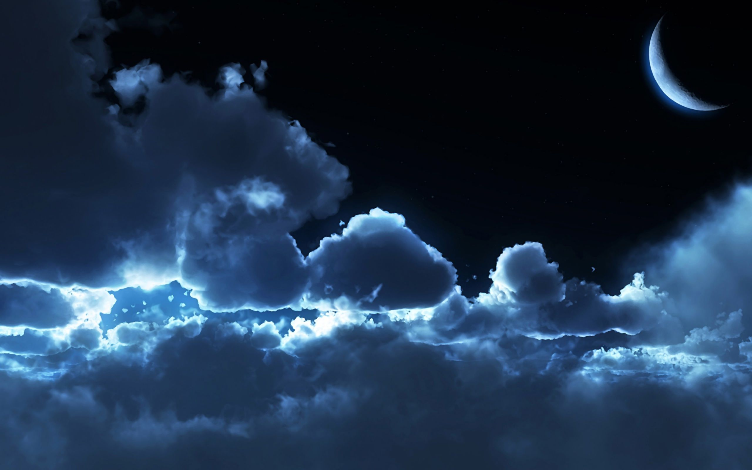 night clouds moon wallpaper