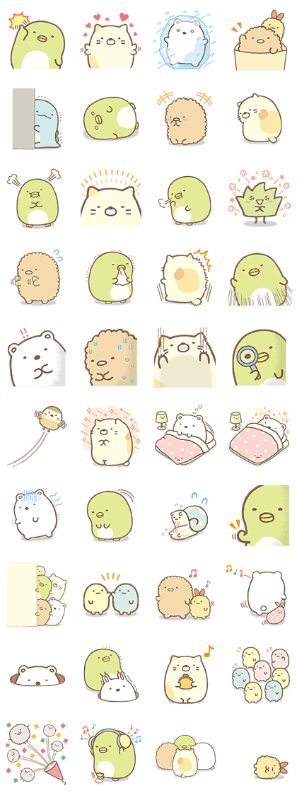 Sumikko Gurashi Myriad Of Feelings Line Stickers Cute Doodles Kawaii Drawings Cute Stickers