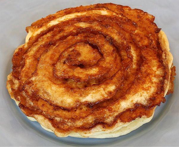 Cinnamon roll pancakes ~ EASY!