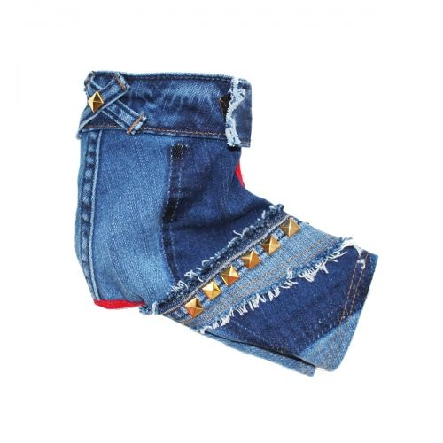 ec2cf7b4a7 gold studded denim dog jeans  190.00  OrostaniCouture  BitchNewYork   DenimDogJeans  Studded