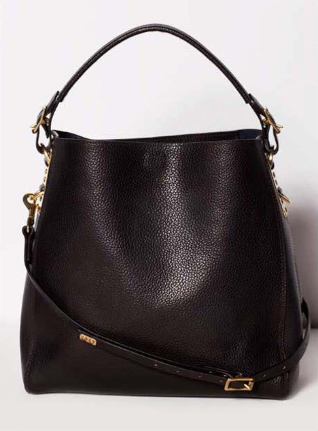 Young British Designers Black Stamped Leather Bucket Bag By Sophie Hulme Accessories Bags