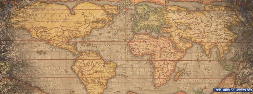 Vintage world map facebook covers pinterest cover photos vintage world map gumiabroncs Choice Image