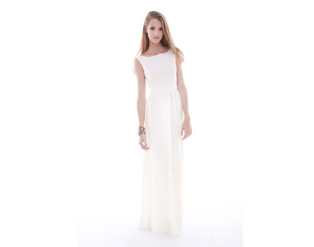 White Night Backless Dress | Carte Blanche X