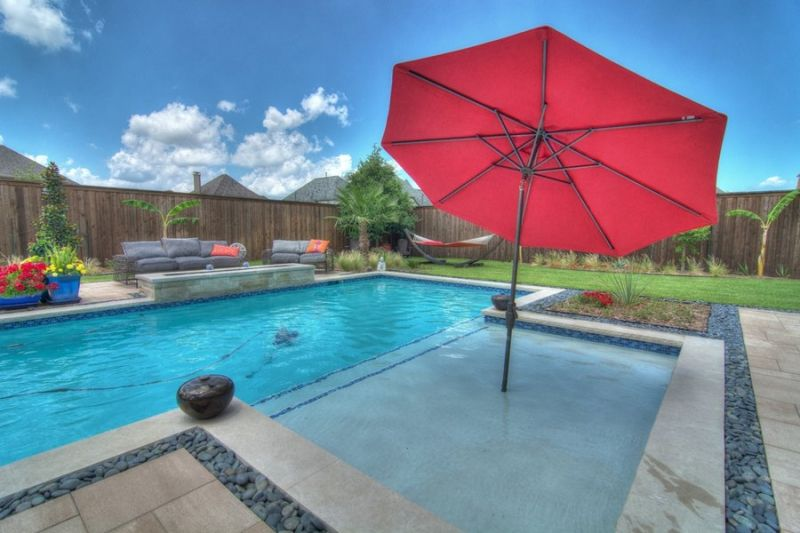 Woeste Pool Outdoor Kitchen Patio Fire Features