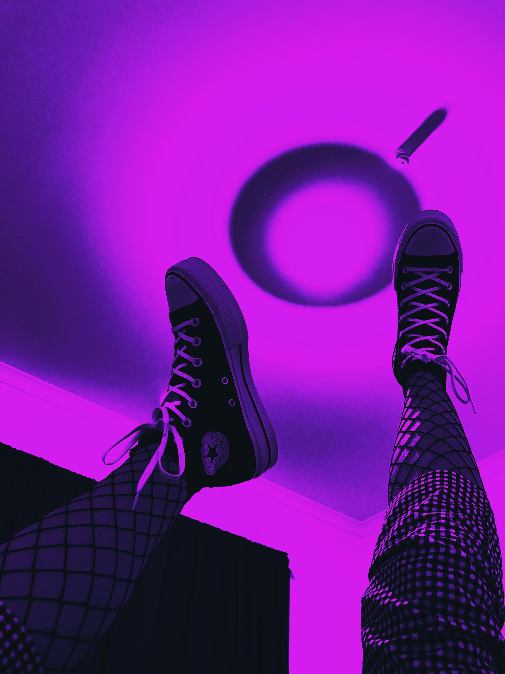Black Cat Purple Aesthetic