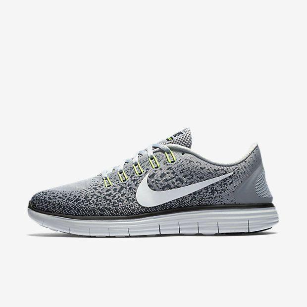 Nike Free RN Distance Mens Running Shoes 12.5 Wolf Grey Black 827115 005 # Nike #