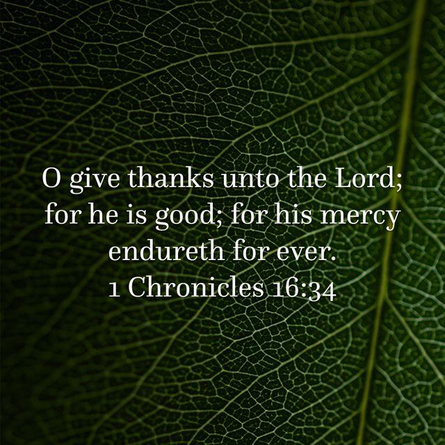 1 Chronicles 16:34, King James Version (KJV) | Psalms ...