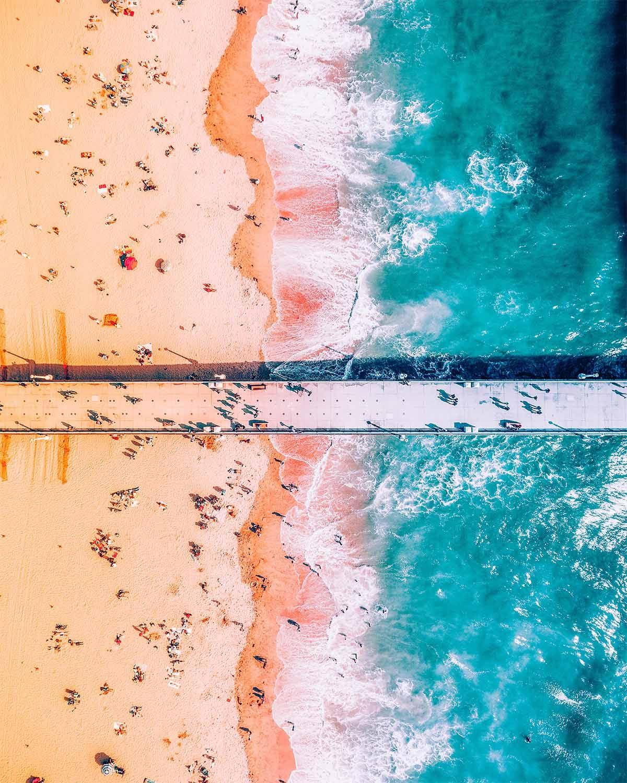 Manhattan beach in 2019 | Art | Aerial images, Aerial photography