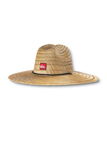Quiksilver Summer Pierside Straw Sun Hat Wide Big Brim Beach Man Surf Straw Cap