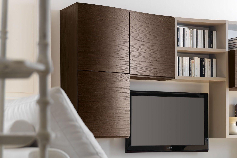 arredamento moderno zona living 583 - dettaglio pensili curvi in ... - Arredamento Moderno Zona Living