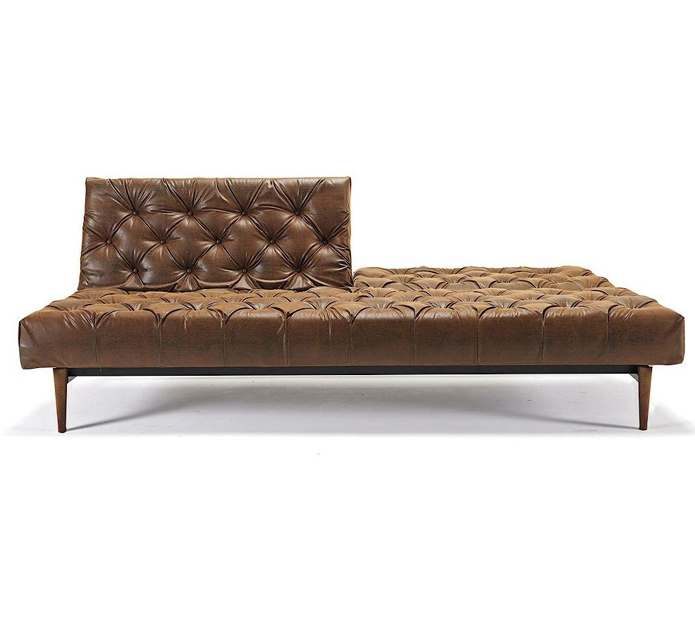Oldschool Leather Chesterfield Sleeper Sofa Bed Leather - Convertible sofa bed los angeles modern auctions
