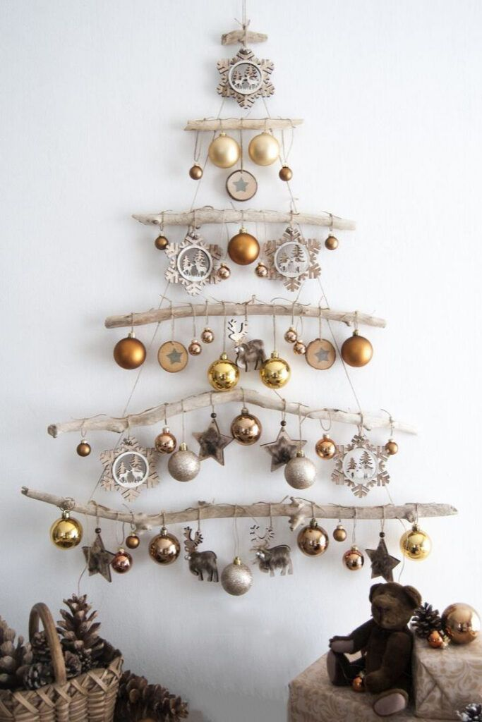 100 Fabulous Christmas Decor Ideas To Perfect Your Home Page 111 Of 150 Driftwood Christmas Tree Wall Mounted Christmas Tree Christmas Holidays
