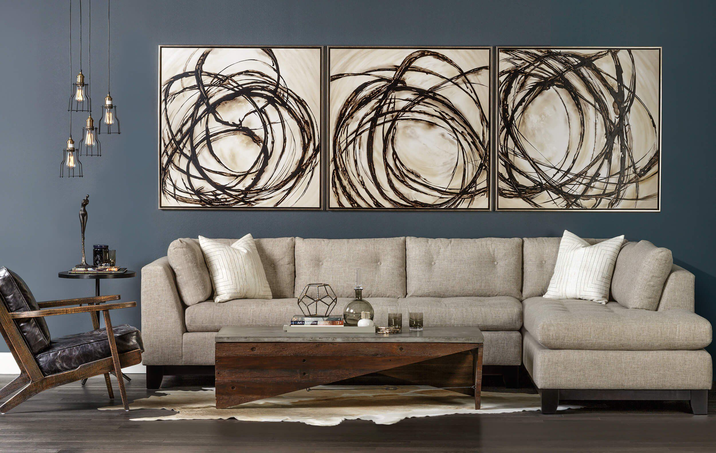 Divine Chaos I Framed is part of Tufted Sectional Living Room - Divine Chaos I artwork is hand embellished, bri