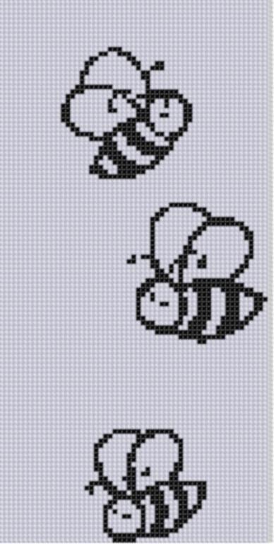 Buzzing Bees Cross Stitch Pattern pattern on Craftsy.com