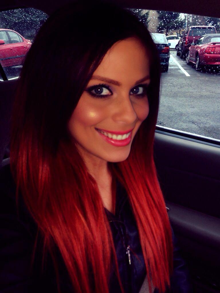 Adaras fire orange ombré  #hair #red #ombre #orange #ombreextension