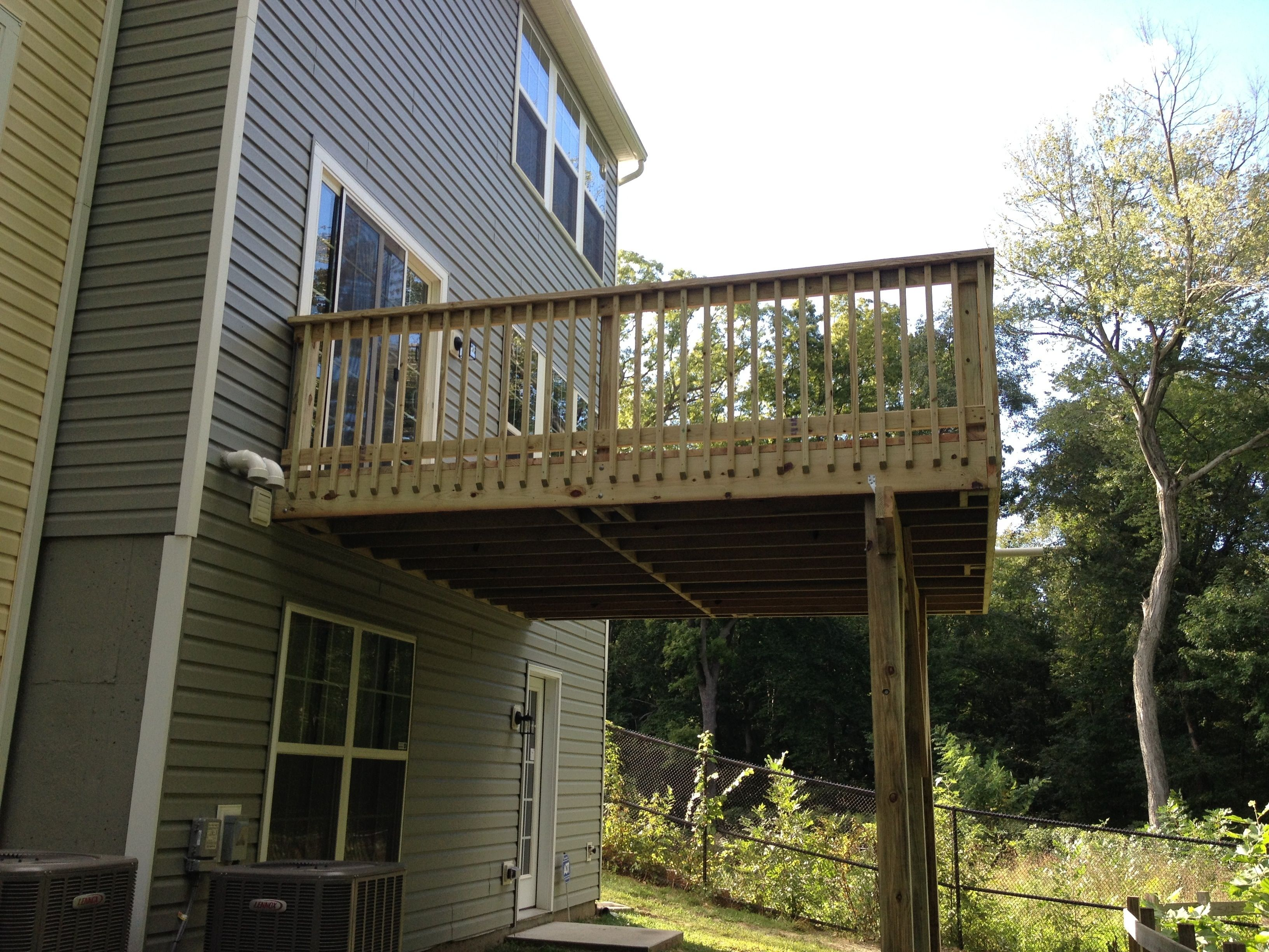 2nd Story Deck Stairs Description Second Story Addition