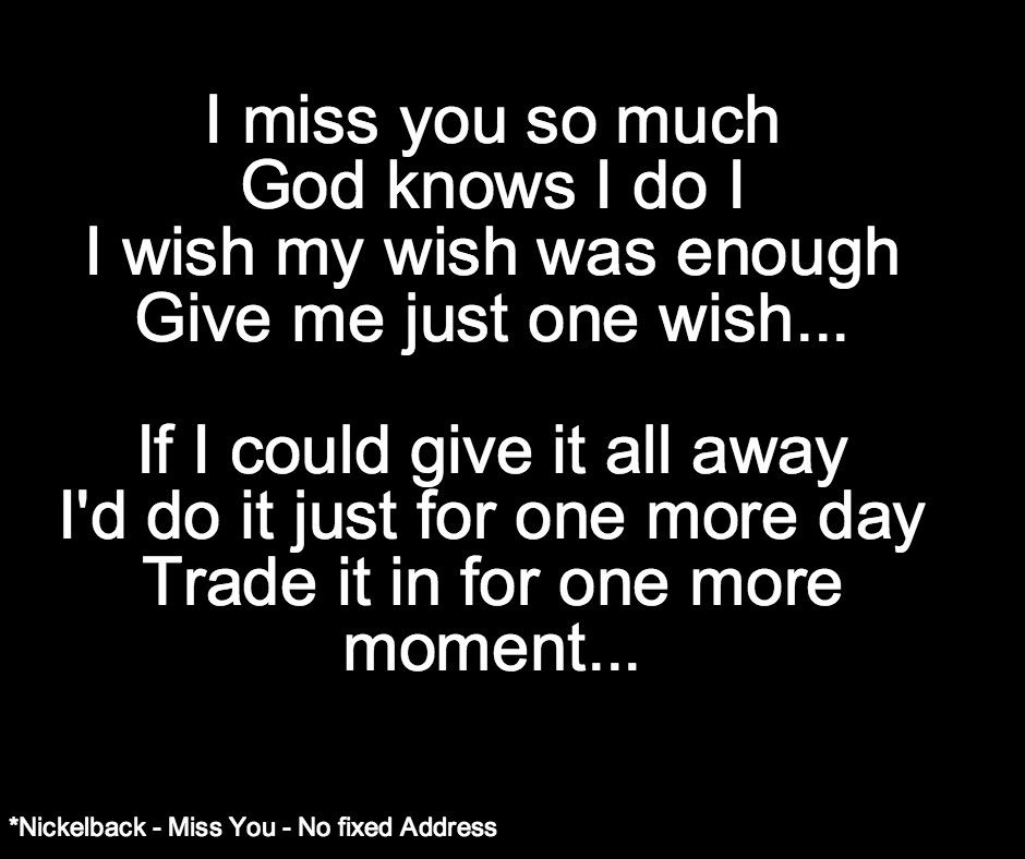 Lyric adelitas way good enough lyrics : Nickelback - Miss You | Soul Food | Pinterest | Heart breaks and ...