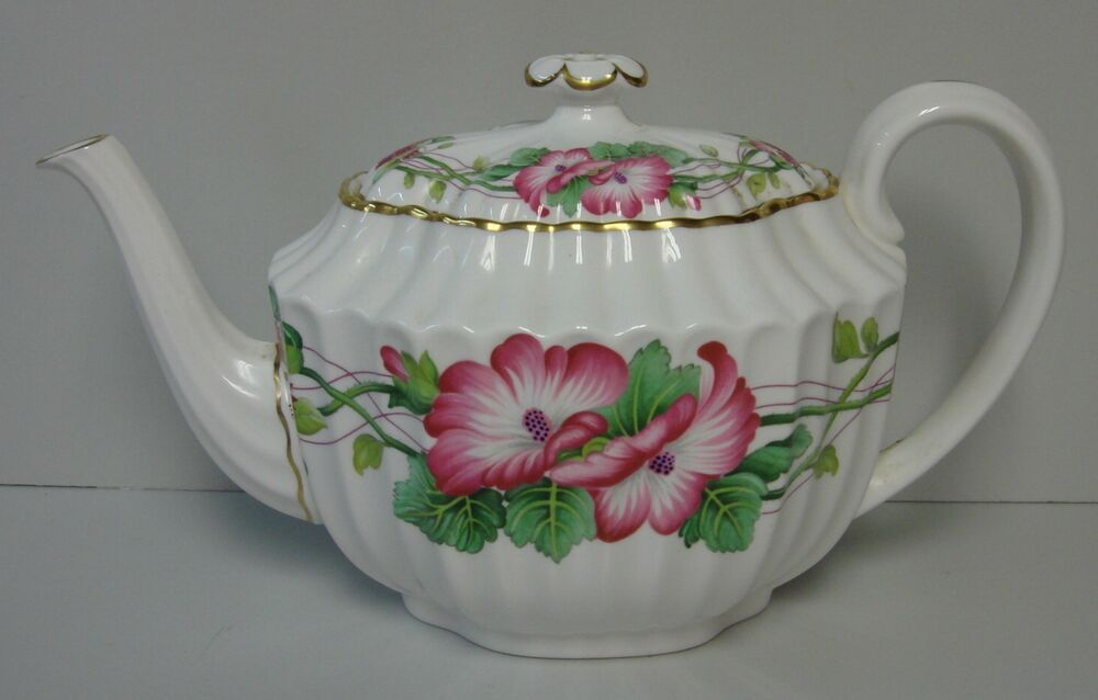 Spode,WILD MALLOW  Teapot (4 Cup Capacity)  China Unlimited