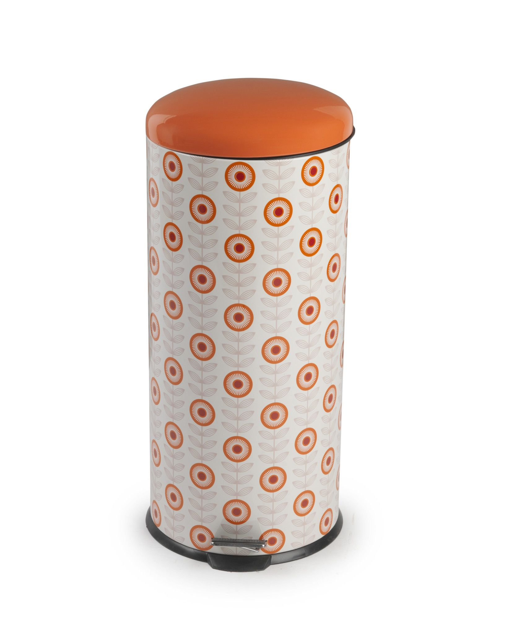 Salter Retro Orange Pedal Kitchen Bin From The Cooks