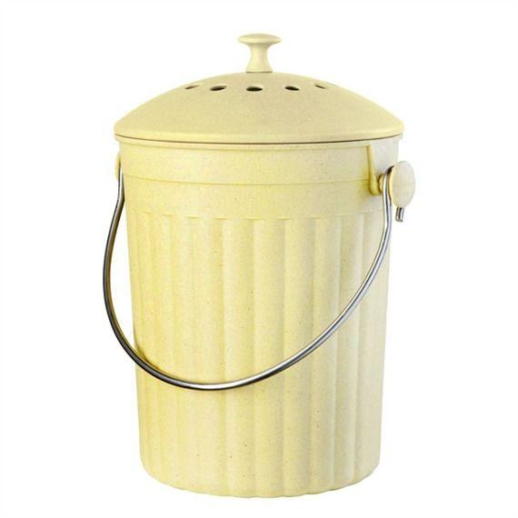 Bamboo Fiber Compost Bin (491561175), Eco Kitchen Accessories ...