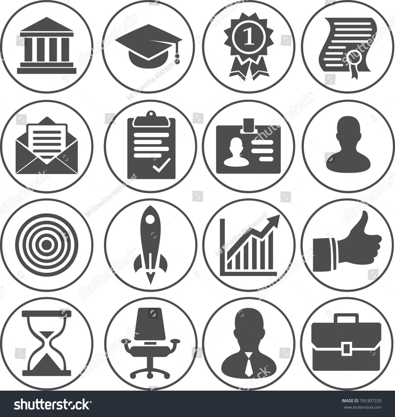 illustration of Business Career Icons Ad , sponsored,