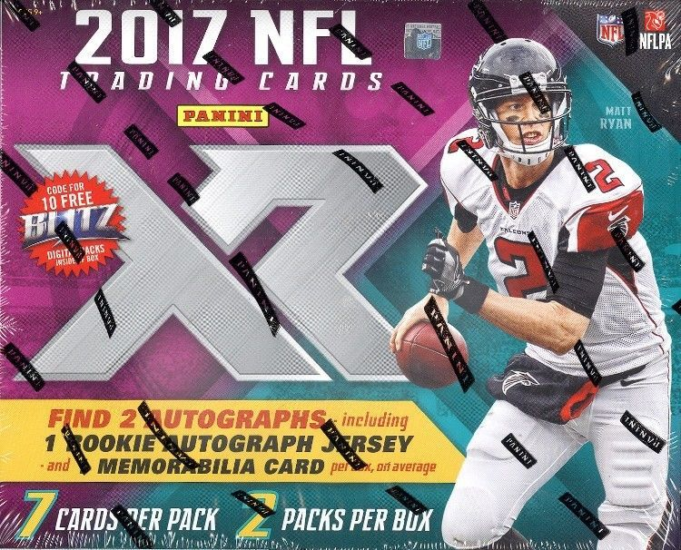2017 panini xr football hobby 15 box case blowout cards