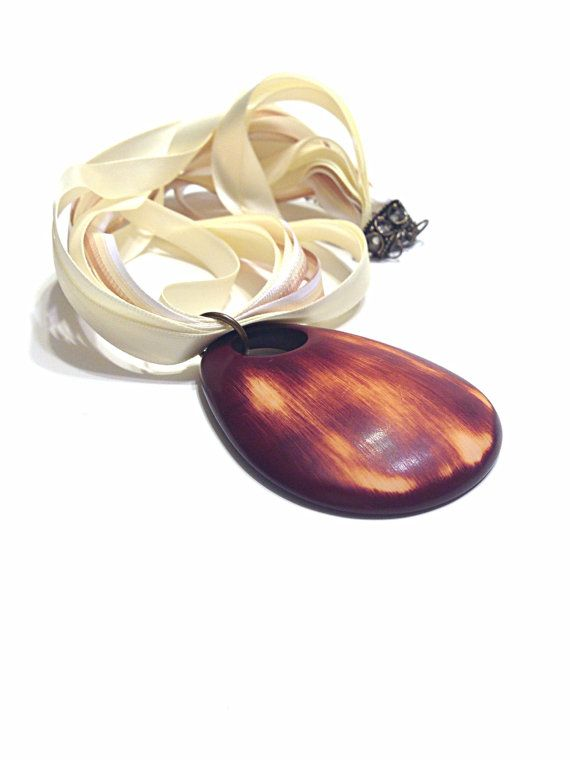 Wooden Necklace  Wood Necklace  Wooden Jewelry  Wood by Barysto