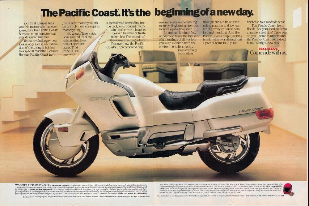 1989 Honda Pacific Coast Touring MotorcycleOriginal 2