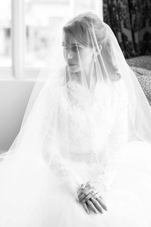 da40a6aedb071 Bride Portrait Veil Over Face Sitting