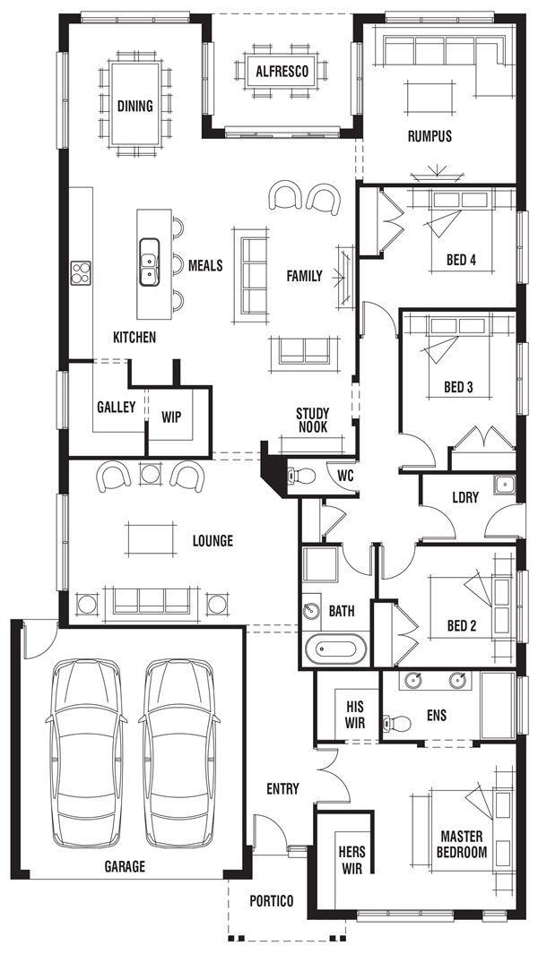House Design Vancouver Porter Davis Homes Single Storey House Plans Floor Plans Home Design Floor Plans