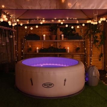 Lay Z Spa Paris Airjet Inflatable Hot Tubs Hot Tub Garden Hot Tub Backyard