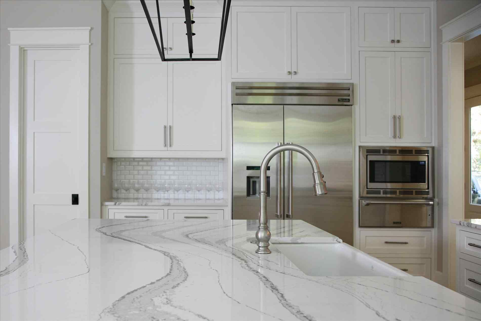 black white kitchen ideas island on also cabinet sink enchanting flooring countertops top stool with for of quartz your ceramics tap wooden countertop and yo chrome plus decoration