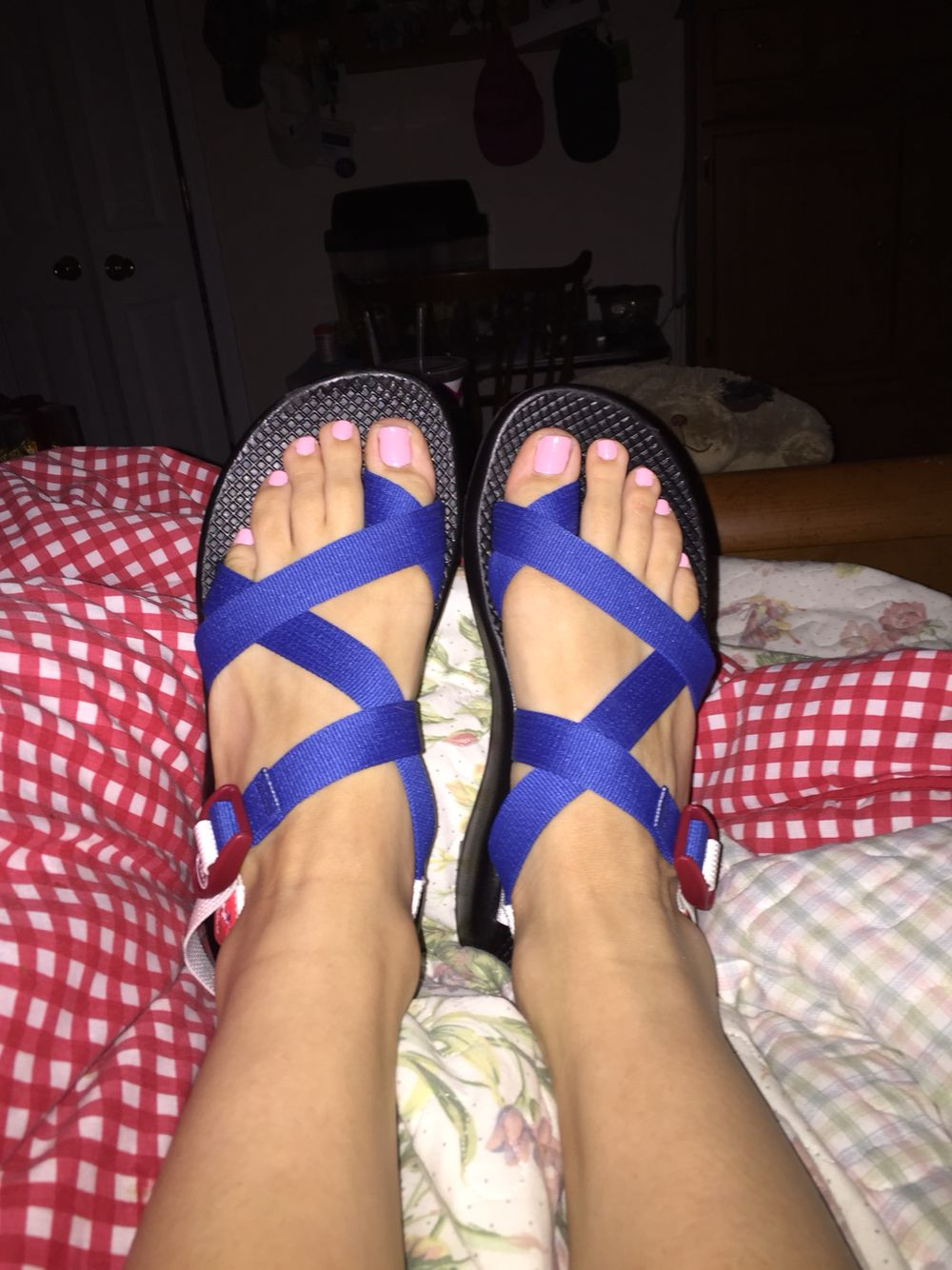 My custom chacos. Red, white, blue