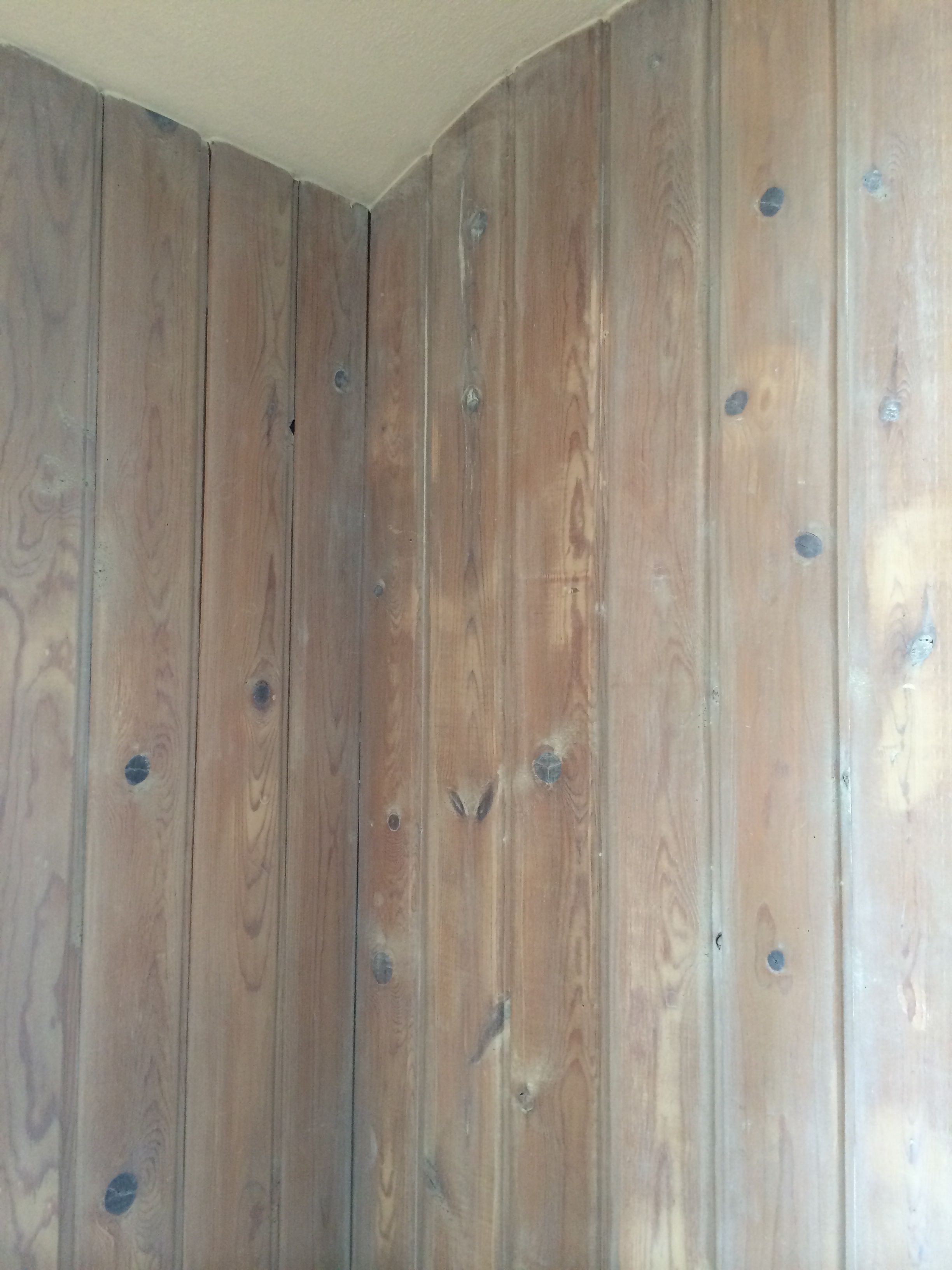 White Pickling Of Knotty Pine Paneling Knotty Pine Walls Pine