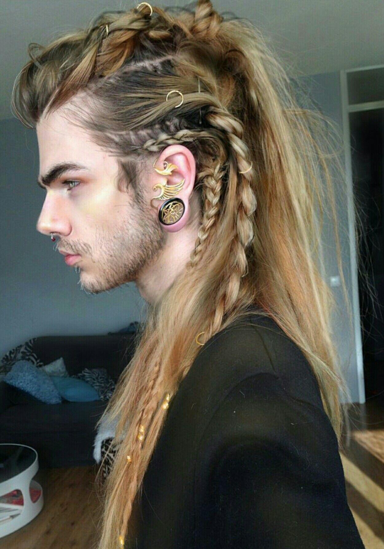 #hairbraids101 mens long hairstyles