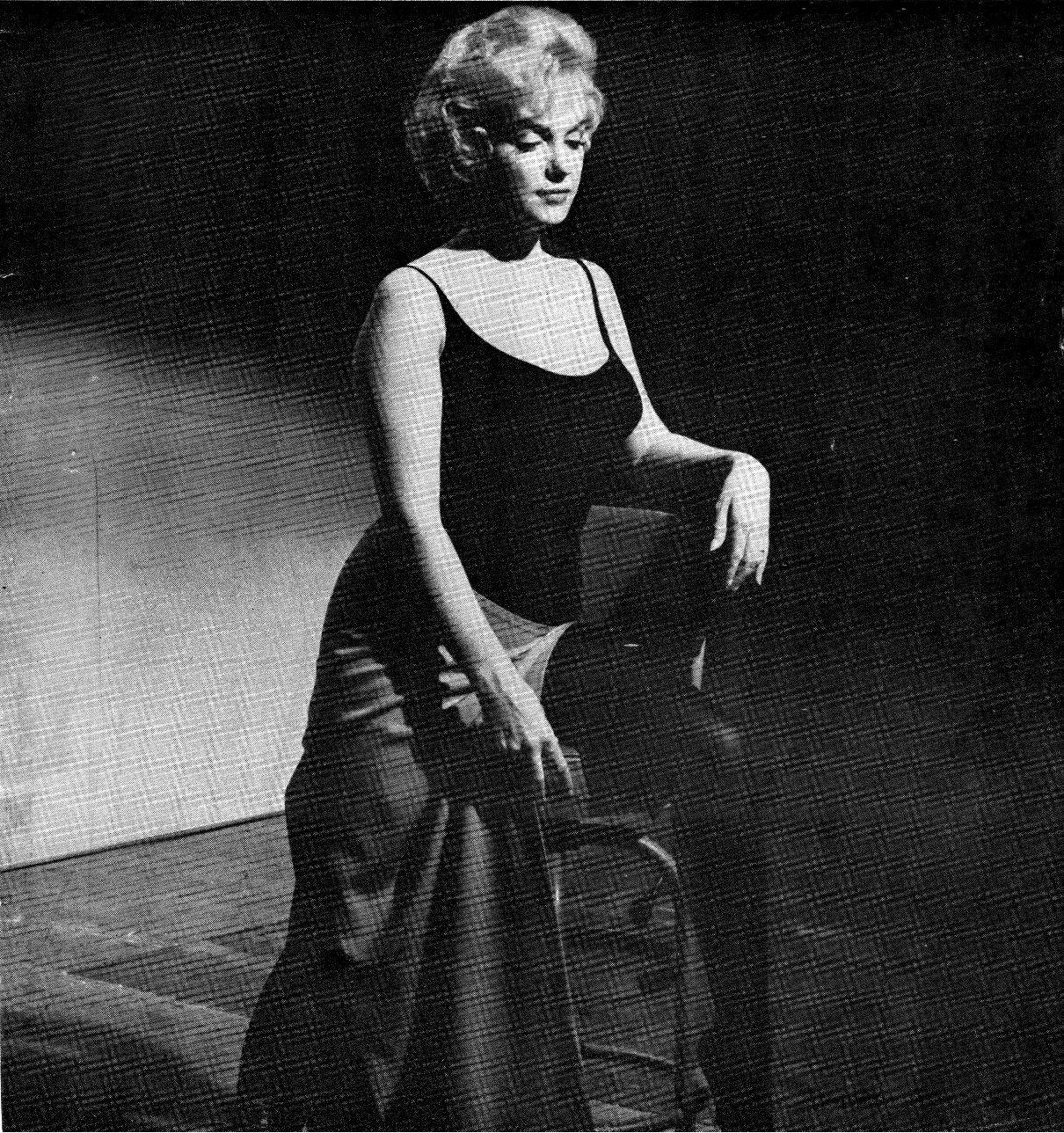"Marilyn Monroe on the set of ""Let's Make Love"", 1960."