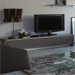 Mag TV Stand, 2 Drawers 1 Drop-Down