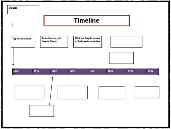 7+ Personal Timeline Templates u2013 Free Word, PDF Format Download - timeline template word